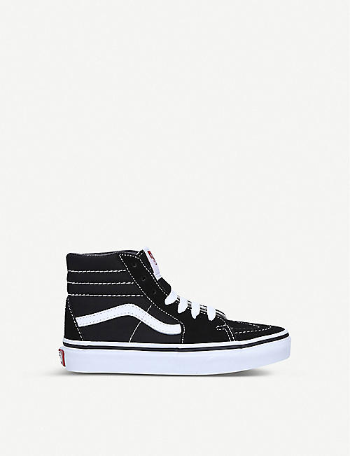 VANS: SK8-HI leather-canvas high-top trainers 4-8 years