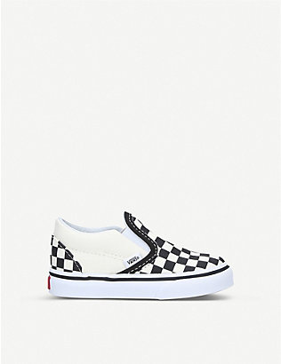 VANS: Slip-on canvas trainers 1-4 years
