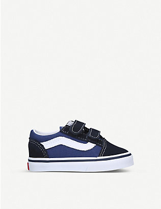 VANS: Old Skool suede and canvas trainers 1-4 years