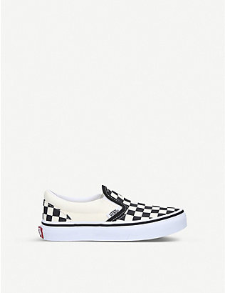 VANS: Checkerboard slip-on shoes 5-9 years