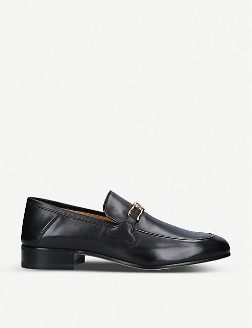 GUCCI: Phyllis horsebit-embellished leather loafers