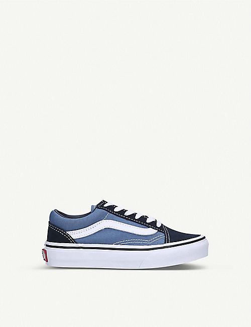 VANS: Old Skool canvas and leather trainers 5-7 years