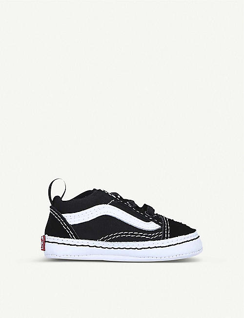 VANS: Old Skool canvas and leather trainers 6 months