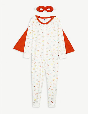 PETIT BATEAU Superhero print caped cotton pyjamas 2-10 years
