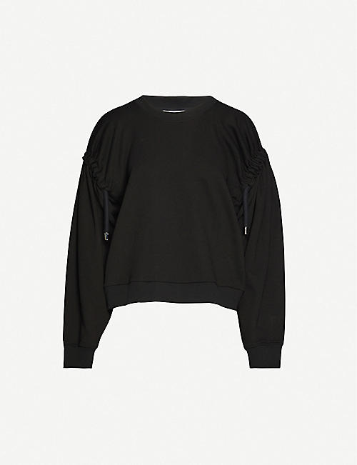 ACT N1: Round-neck cotton-jersey sweatshirt