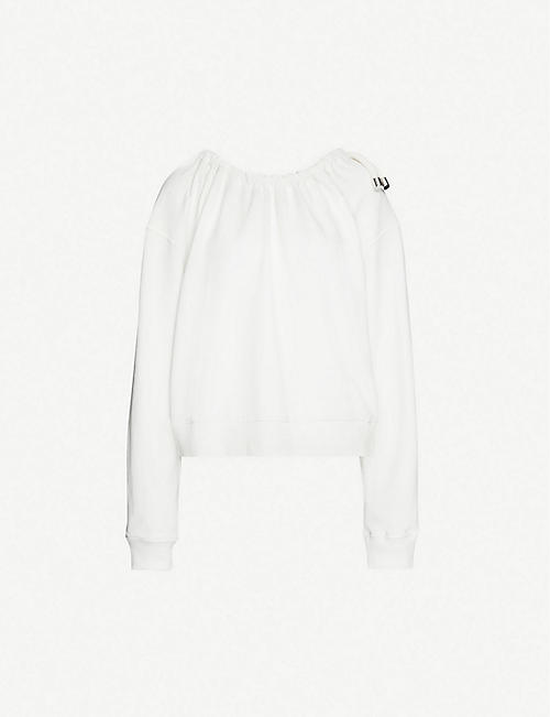ACT N1: Drawstring-neck cotton-jersey sweatshirt