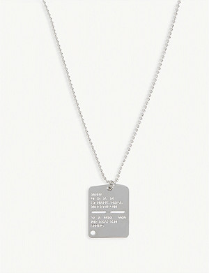 1017 ALYX 9SM Military tag necklace