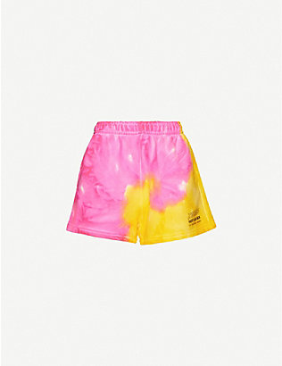 MISBHV: High-rise cotton-blend jersey shorts