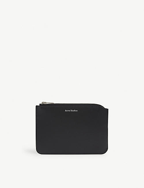 ACNE STUDIOS: Malachite leather pouch