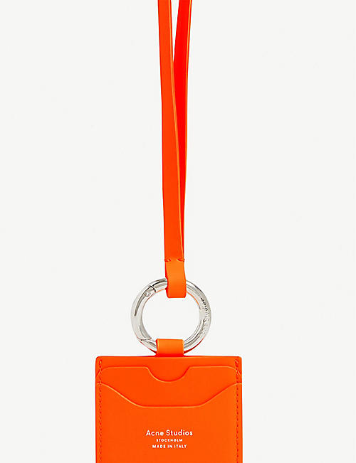 ACNE STUDIOS Keychain leather card holder lanyard