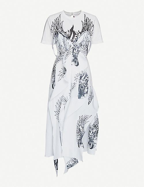 FYODOR GOLAN Graphic-print cotton-blend dress