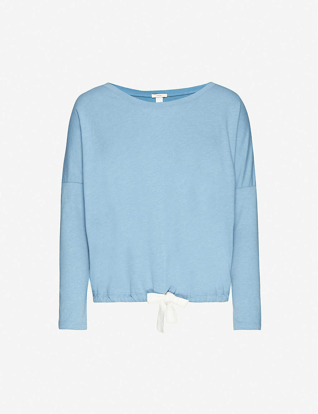 EBERJEY: Heather cotton-blend jersey pyjama top