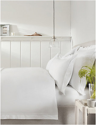 THE WHITE COMPANY: Camille embroidered cotton king duvet cover 225cm x 220cm