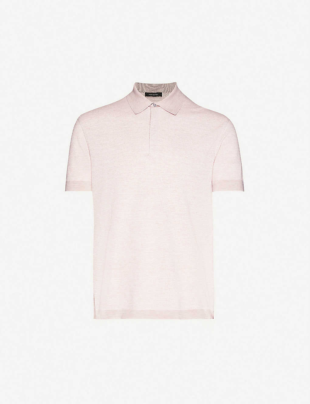 ERMENEGILDO ZEGNA: Classic cotton, linen and silk-blend knitted polo shirt
