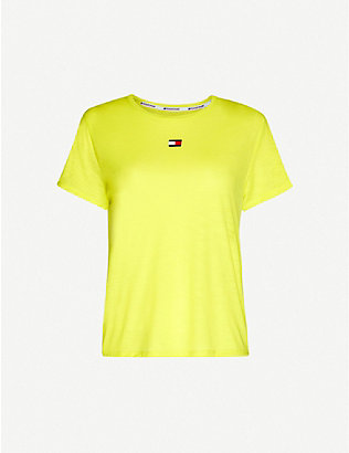 TOMMY SPORT: Performance round-neck jersey T-shirt