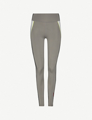 TOMMY SPORT Mesh-panel mid-rise stretch-jersey leggings