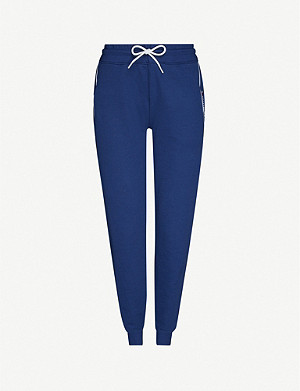 TOMMY SPORT Tapered relaxed-fit cotton-blend jersey jogging bottoms