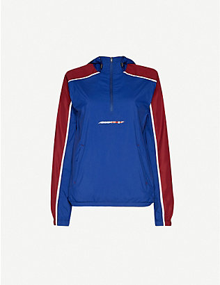 TOMMY SPORT: Colour-blocked hooded shell jacket