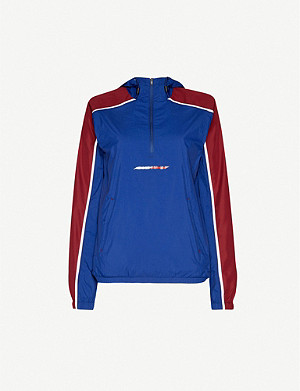 TOMMY SPORT Colour-blocked hooded shell jacket