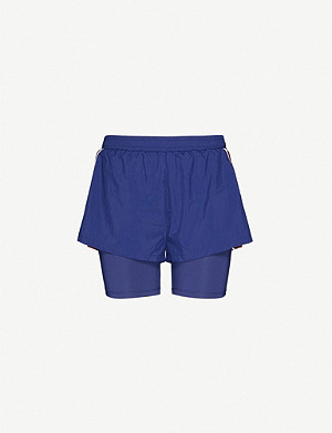 TOMMY SPORT 2-in-1 high-rise stretch-woven shorts