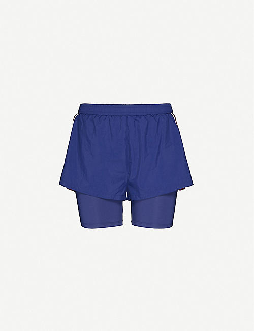 TOMMY SPORT: 2-in-1 high-rise stretch-woven shorts