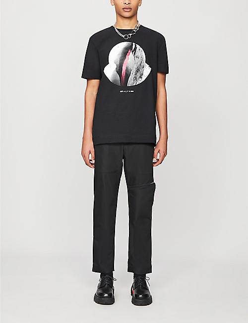 MONCLER GENIUS Moncler Genius x 1017 ALYX 9SM branded-buckle tapered shell trousers