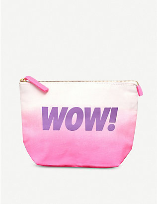 ALPHABET BAGS: Wow canvas pouch