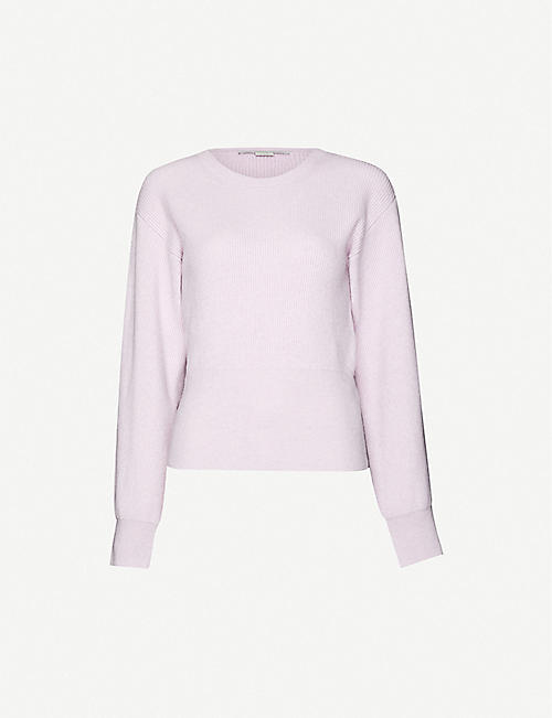 STELLA MCCARTNEY Scoop-neck cashmere and wool-blend jumper