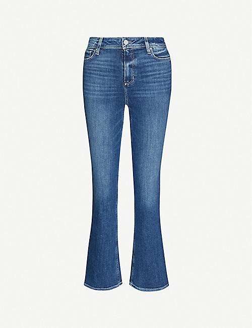 PAIGE: Claudine Ankle Flare high-rise stretch-denim jeans