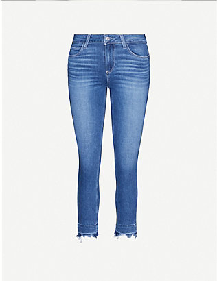 PAIGE: Skyline cropped skinny high-rise jeans