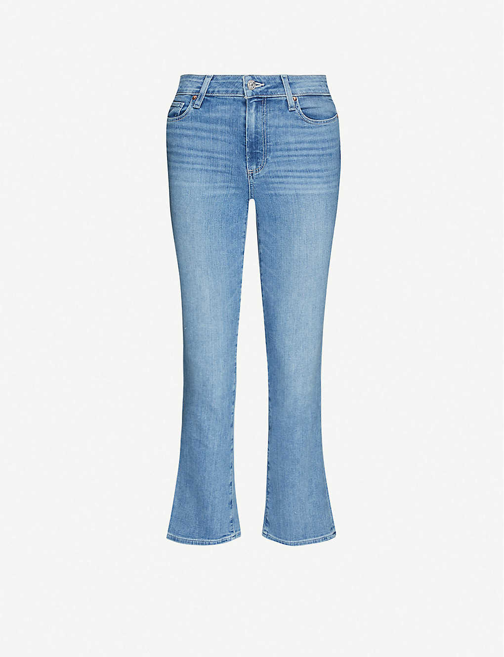 PAIGE: Colette Crop Flare high-rise stretch-denim jeans