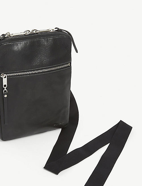 RICK OWENS Supply Pouch leather cross-body bag