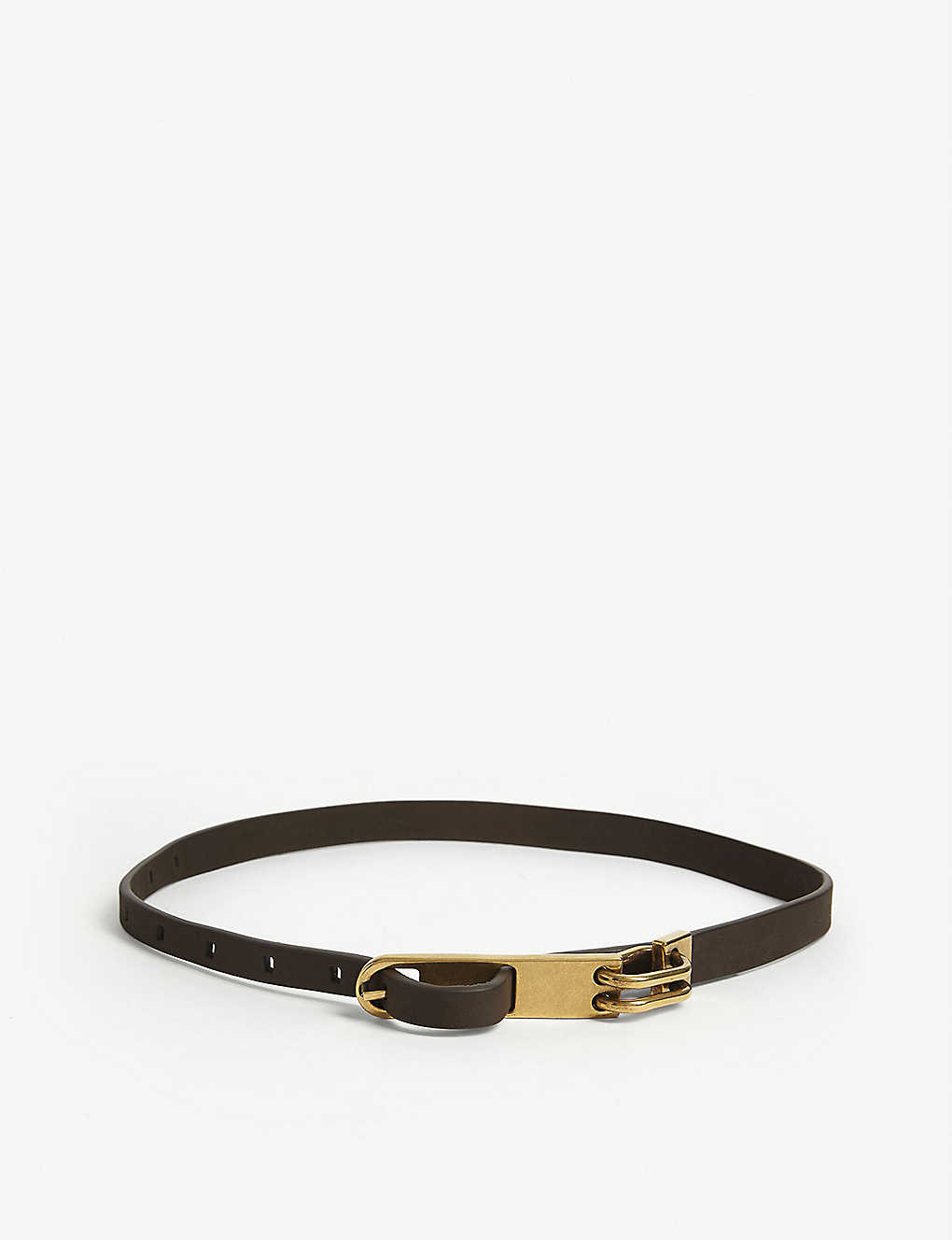 RICK OWENS: Chain leather belt