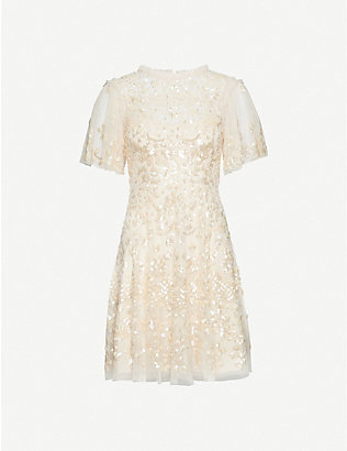 NEEDLE AND THREAD: Honesty embellished mini dress