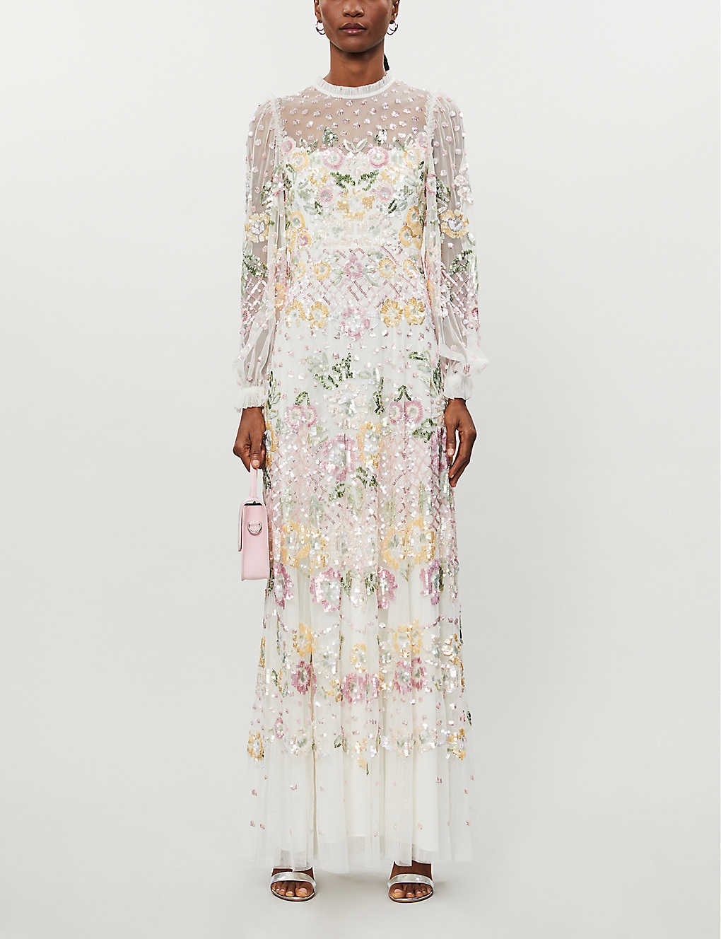 NEEDLE AND THREAD: Rosalie floral-sequinned tulle gown