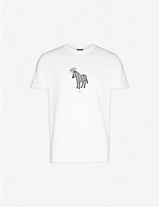 PS BY PAUL SMITH: Halo-print cotton-jersey T-shirt