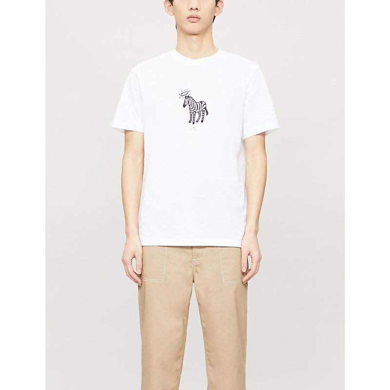 Ps By Paul Smith Tops HALO-PRINT COTTON-JERSEY T-SHIRT