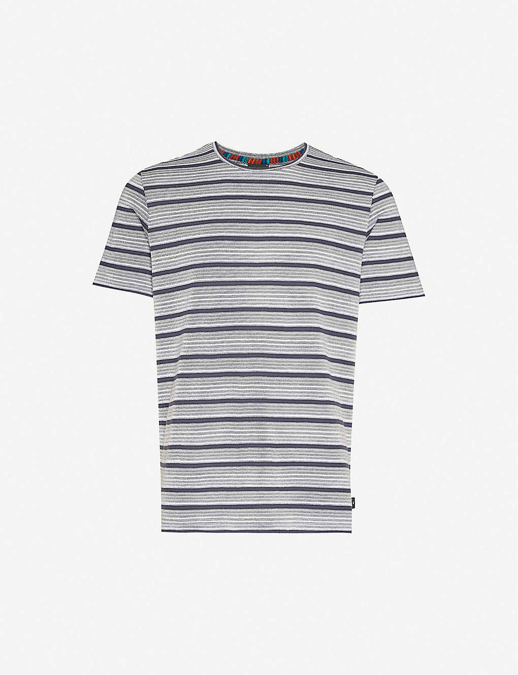 PS BY PAUL SMITH: Striped cotton-blend T-shirt