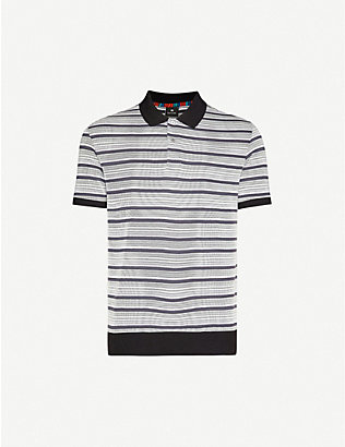 PS BY PAUL SMITH: Striped cotton-blend polo shirt