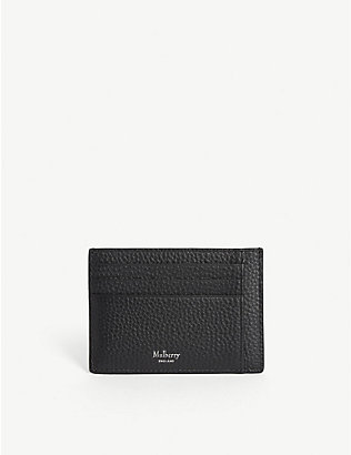 MULBERRY: Grained veg tanned leather card holder