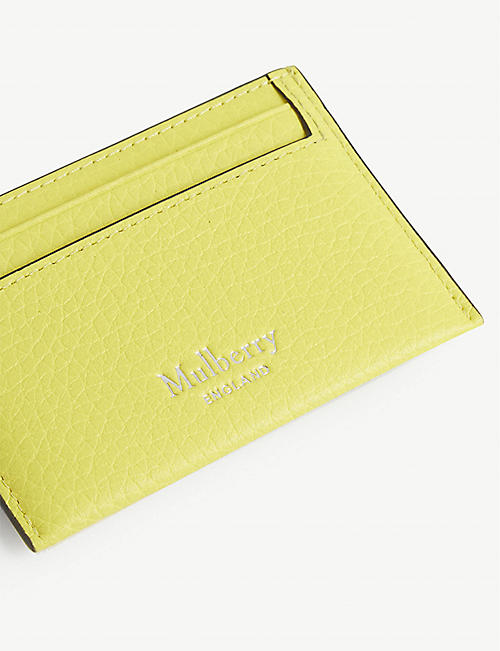 MULBERRY Heritage grain leather card holder