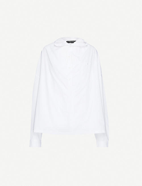 Y/PROJECT Infinity double-layered cotton-twill shirt