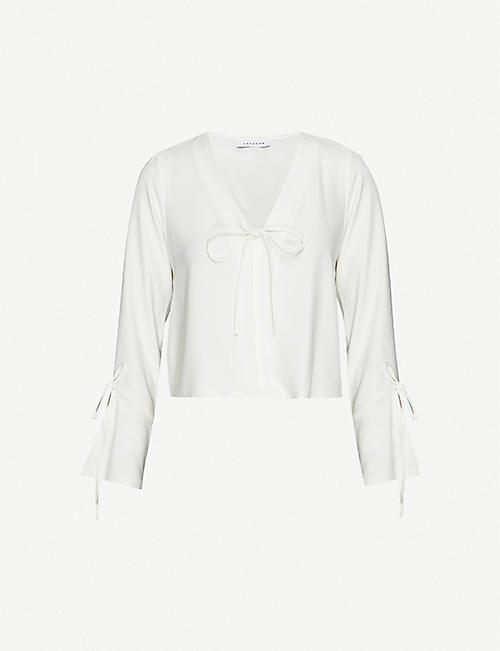 TOPSHOP Semi-sheer crepe blouse