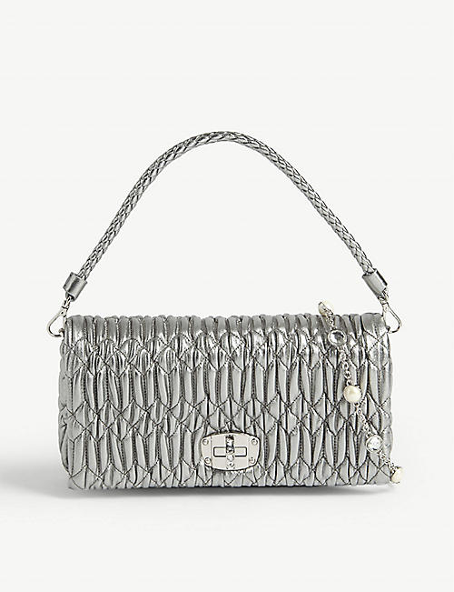 MIU MIU: Matelasse leather cross-body bag