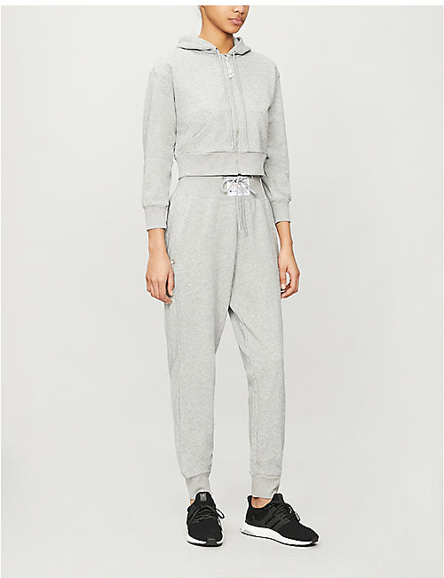ADAM SELMAN SPORT Logo-detail jersey jogging bottoms