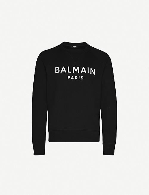 Black $250 Pierre Balmain Graphic Logo Crew Neck Tee