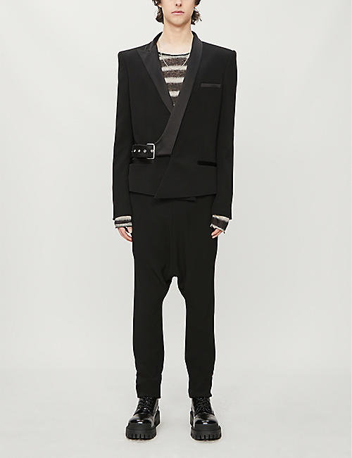 BALMAIN Tapered crepe jogging bottoms