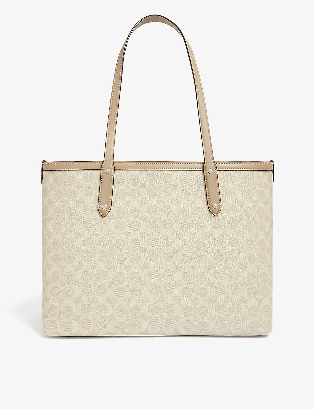 COACH: Central all-over logo leather tote