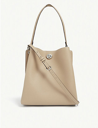 COACH: Charlie leather bucket bag