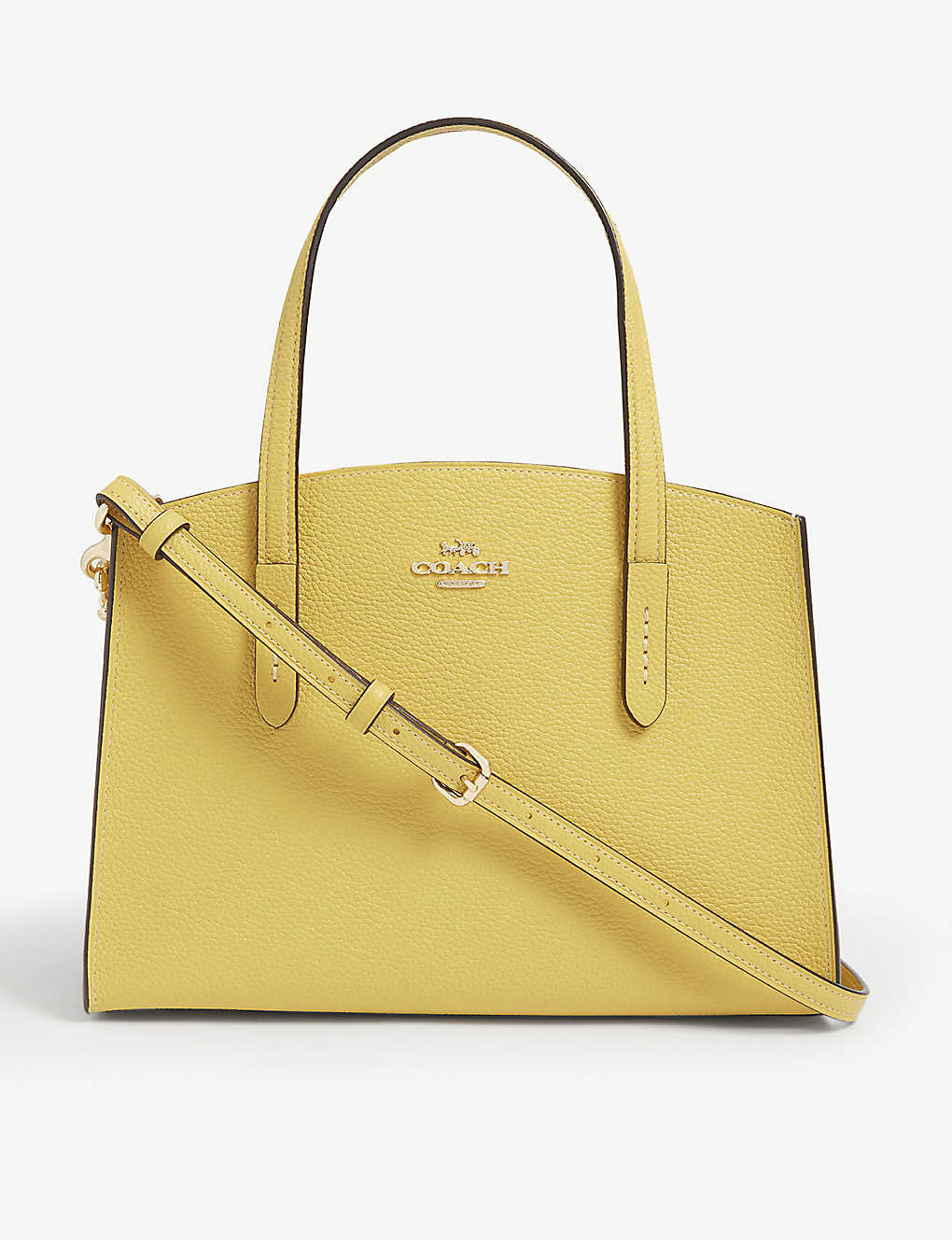COACH: Charlie grained leather tote bag